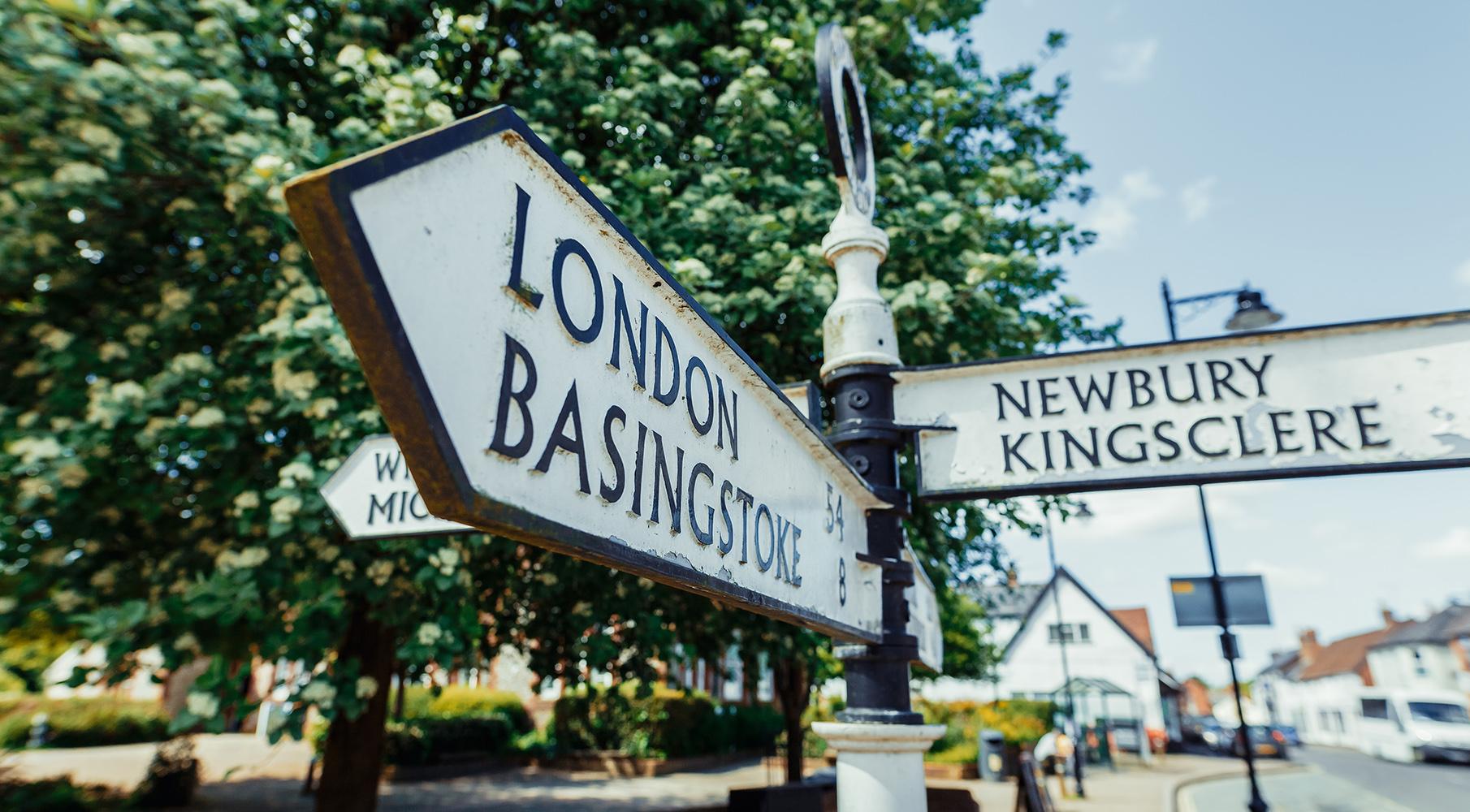 Overton village sign